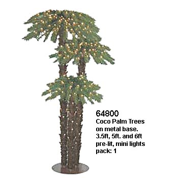 Christmas decor artificial coconut palm trees